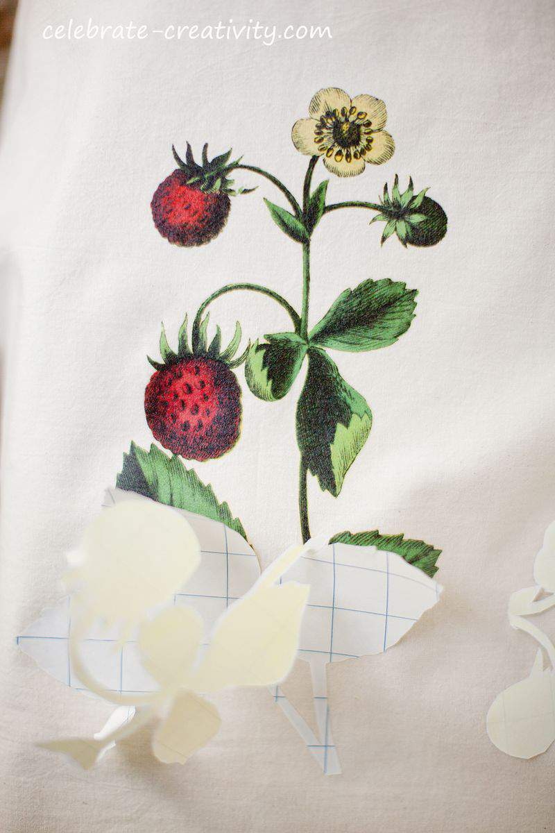 Strawberry dish towel peel