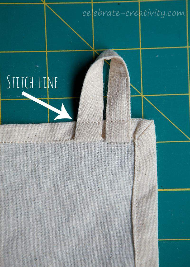 Top stitch line