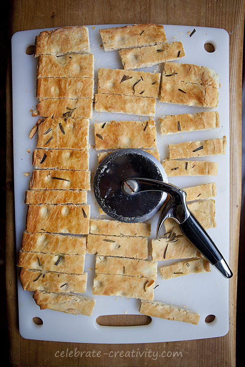 Focaccia strips