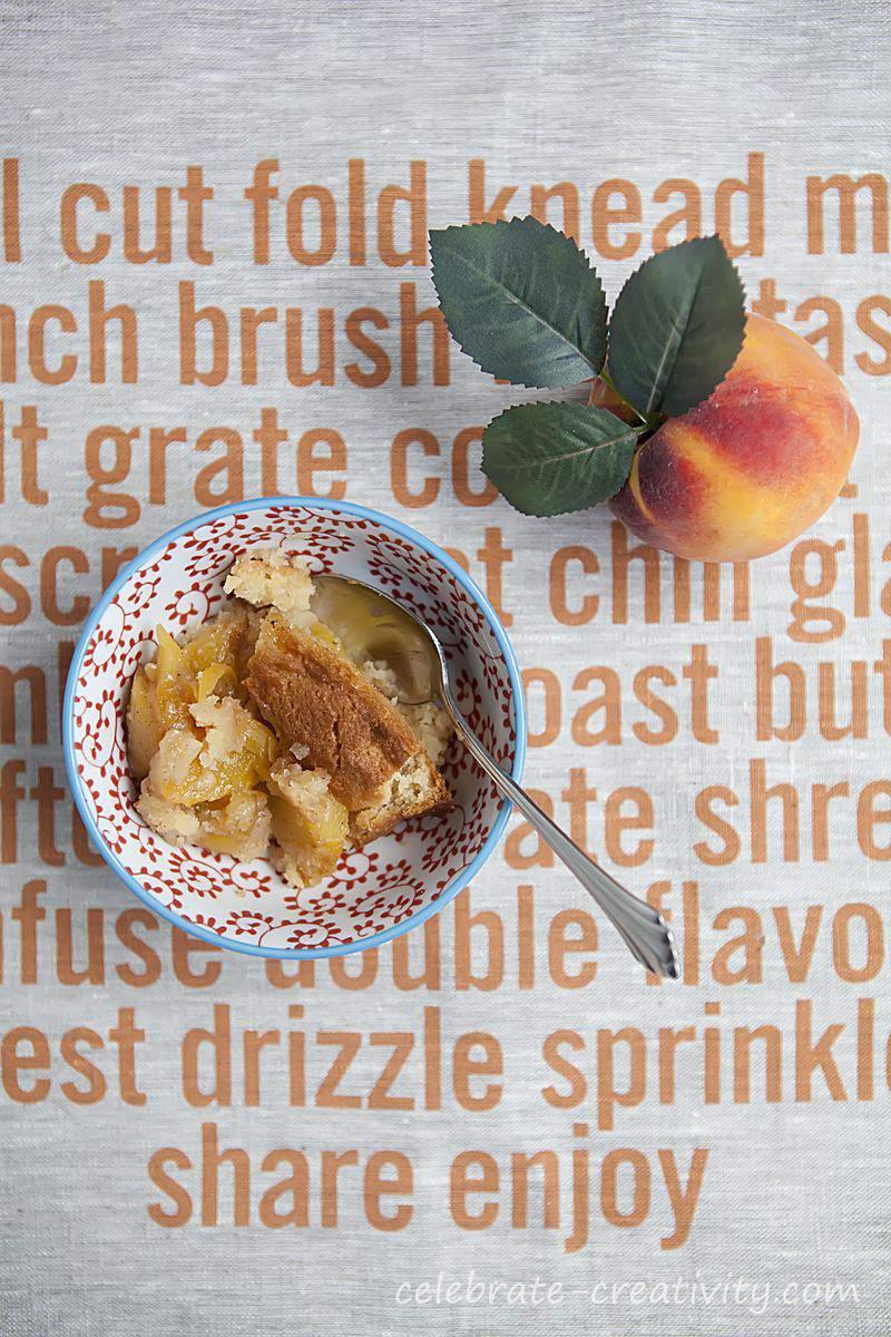 Peach cobbler dish8