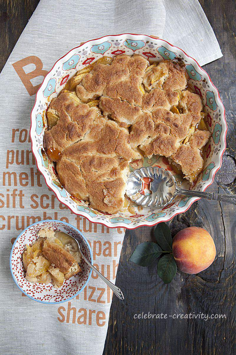Peach cobbler dish6