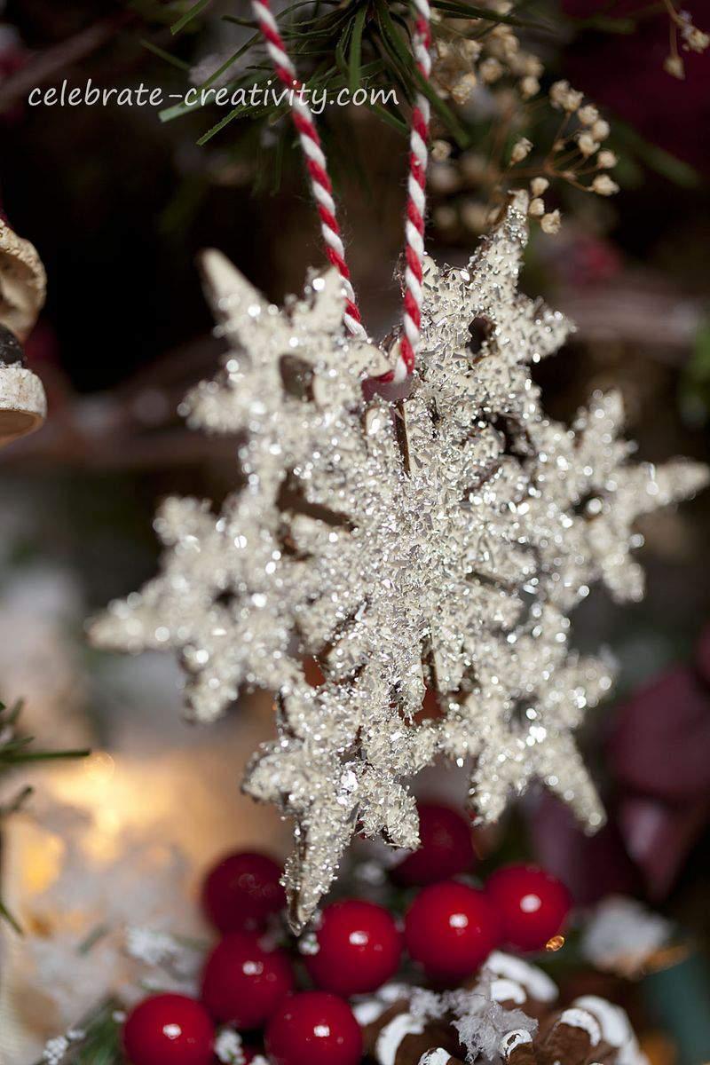 Glitter snowflake5