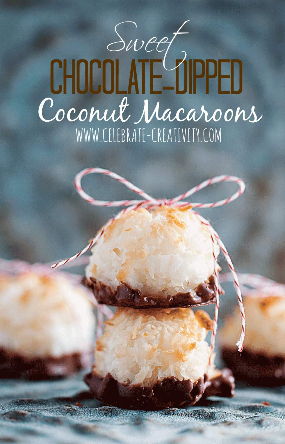 Chocolate Dipped Coconut Macaroons Countdown To Christmas Holiday Series Day 13 Celebrate Creativity