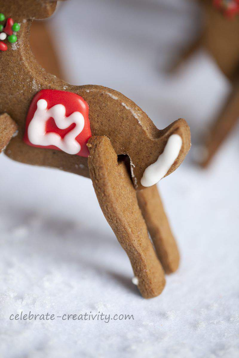 Reindeer cookie tail