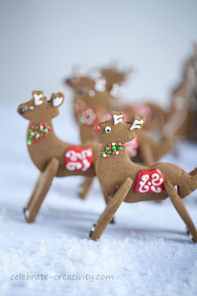 Reindeer cookies rudolf