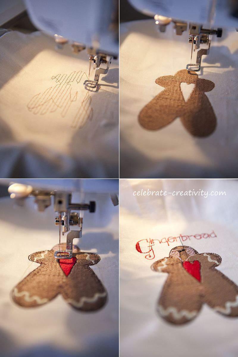 Jumbo gingerbread embroidery