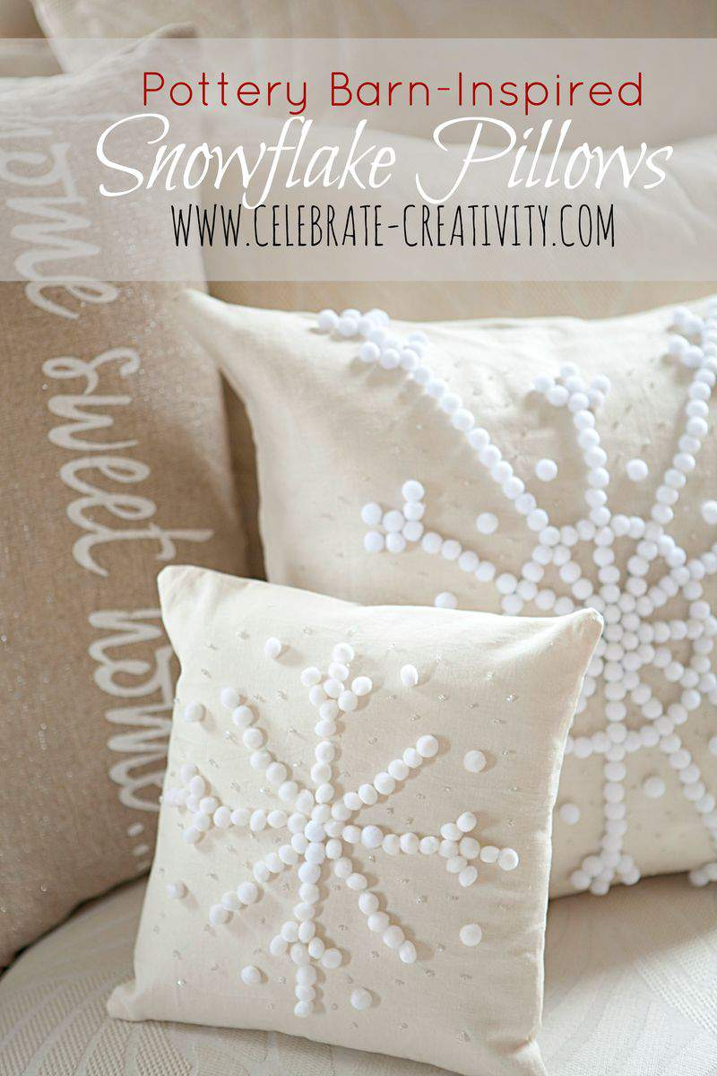Snowflake pillows graphic