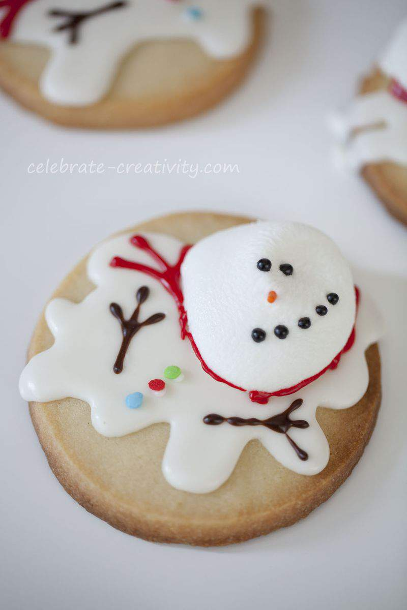 Melted snowman cookies7