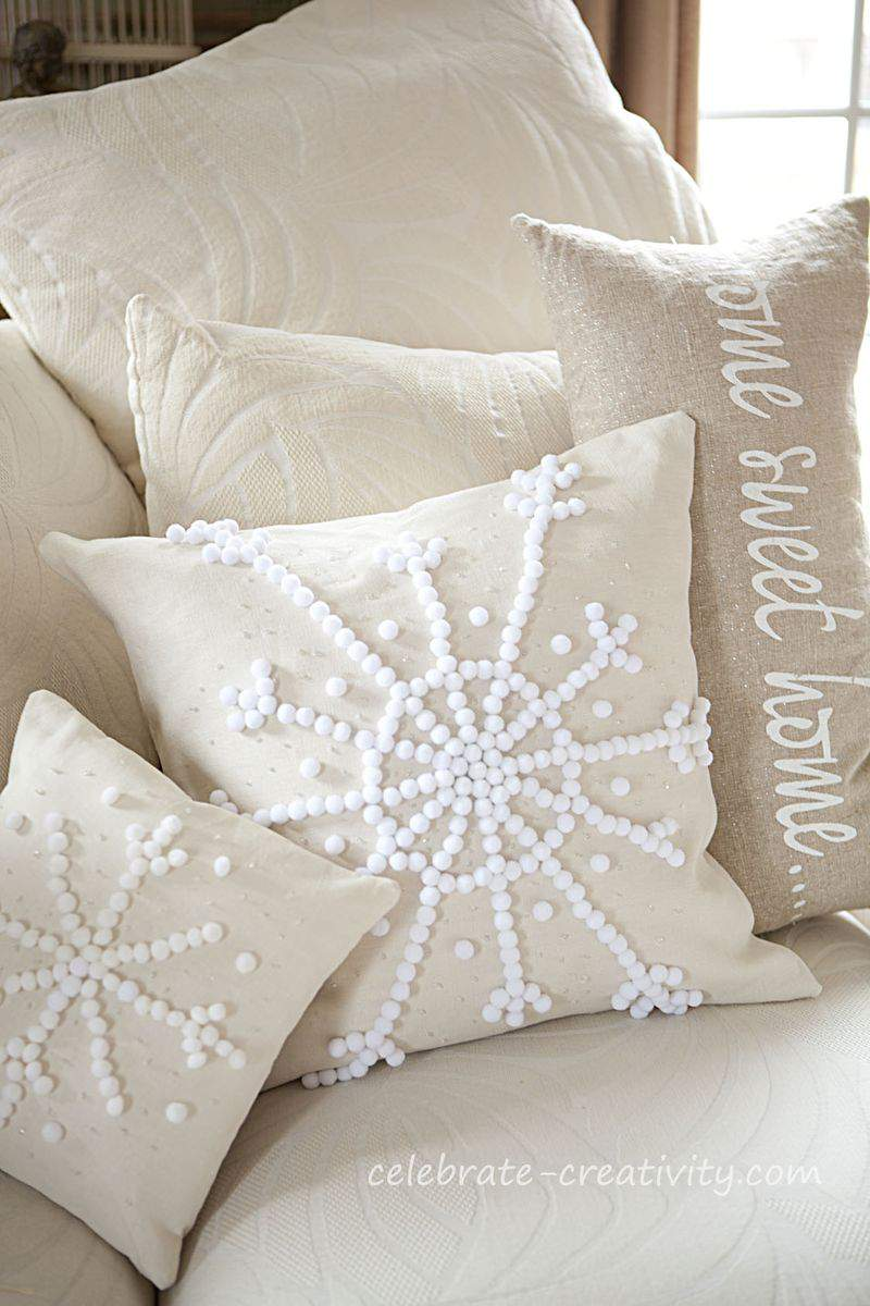 Pillow snowflake12