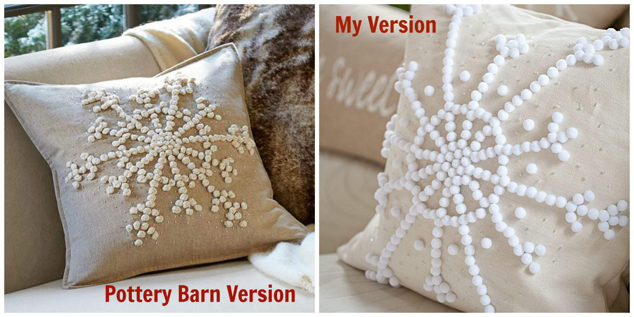 Snowflake Pillow Countdown To Christmas Holiday Series Day 8 Celebrate Creativity