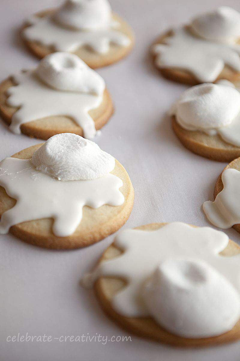 Melted snowman cookies4