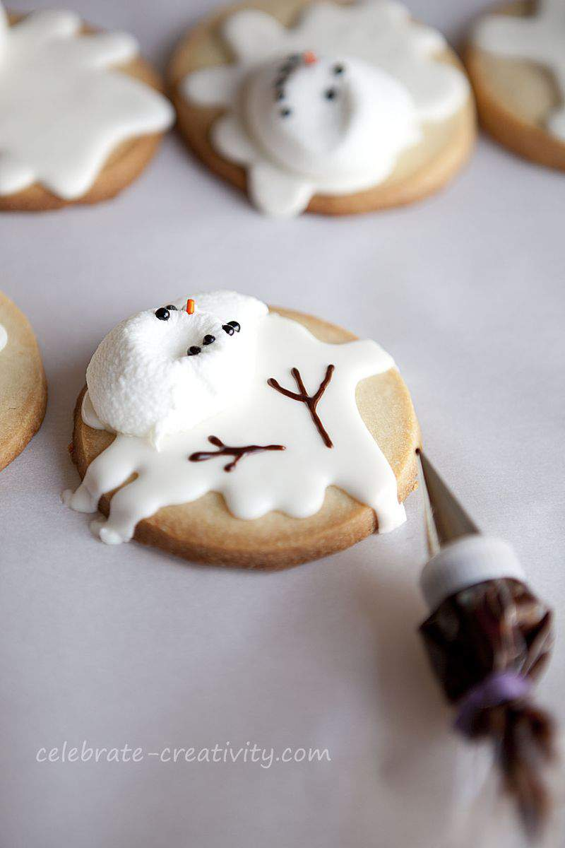 Melted snowman cookies5