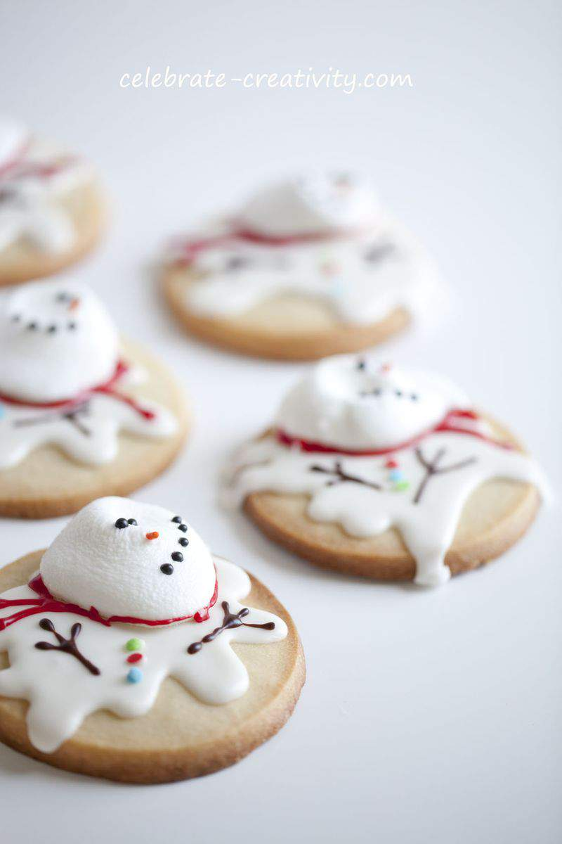 Melted snowman cookie16