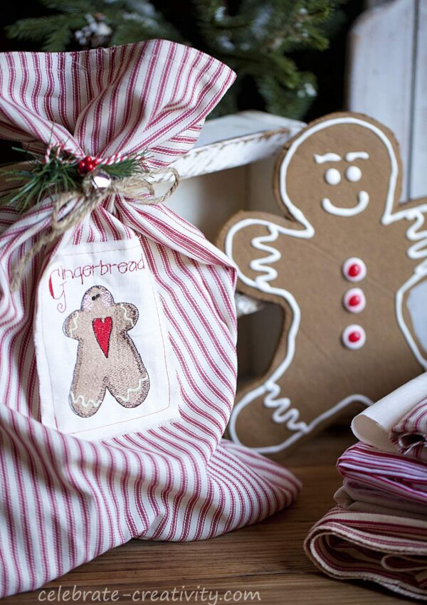 Jumbo Gingerbread Man with Gift Sack