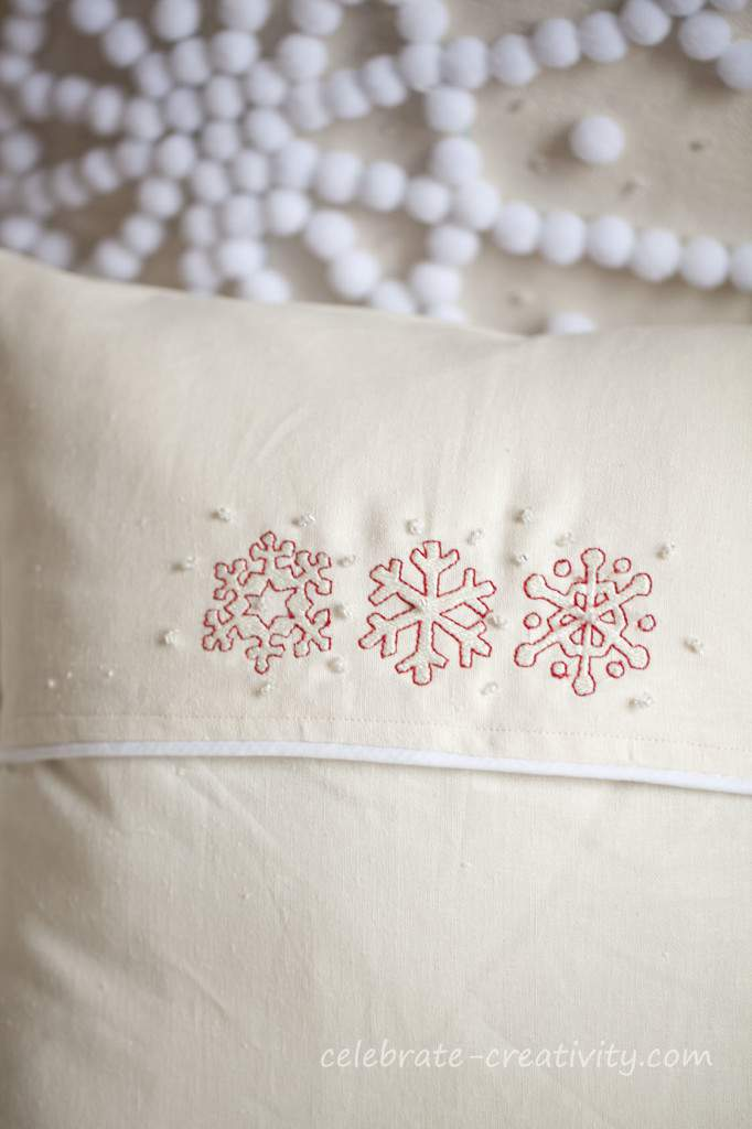 pillow snowflake backside