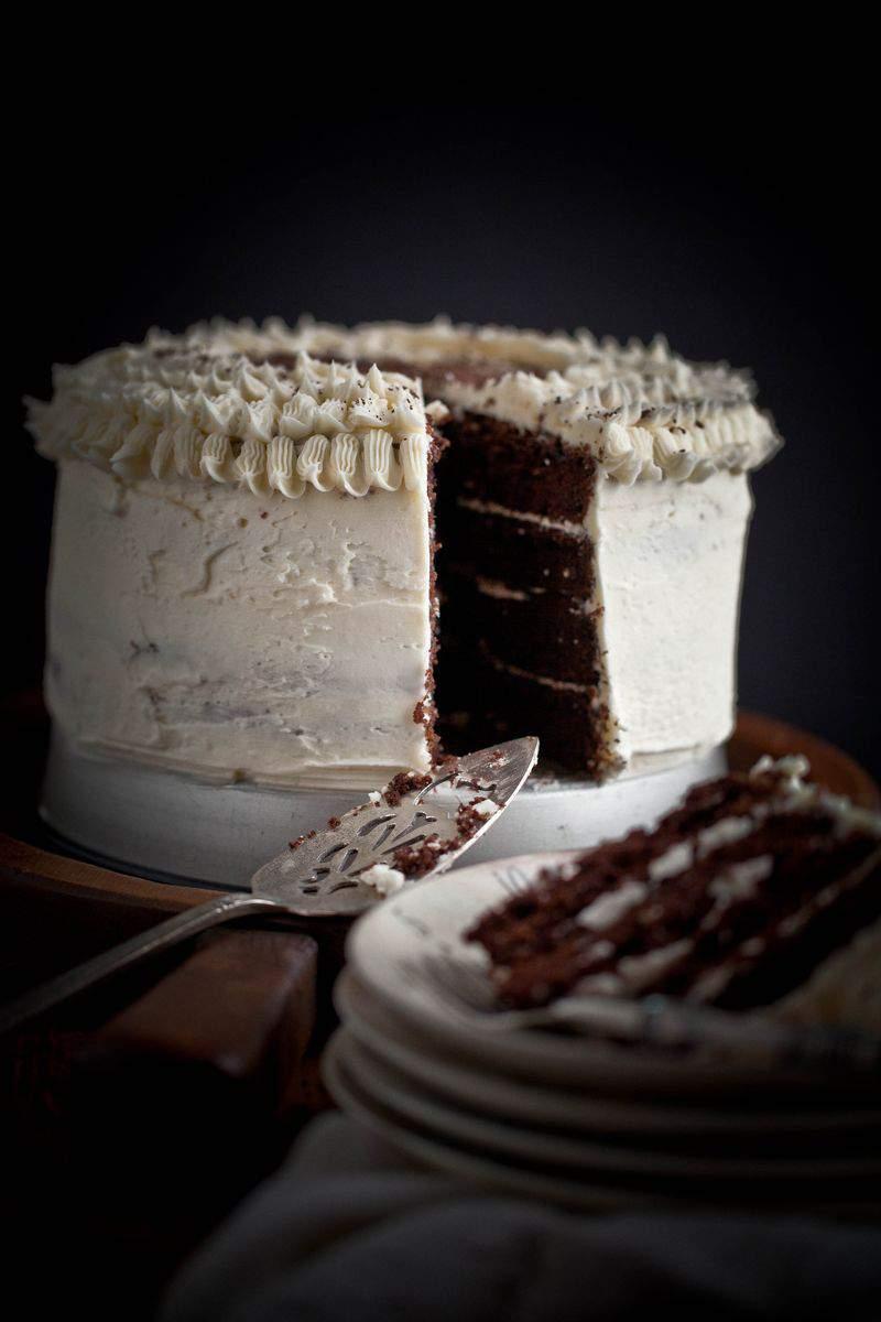 Moody iced cake