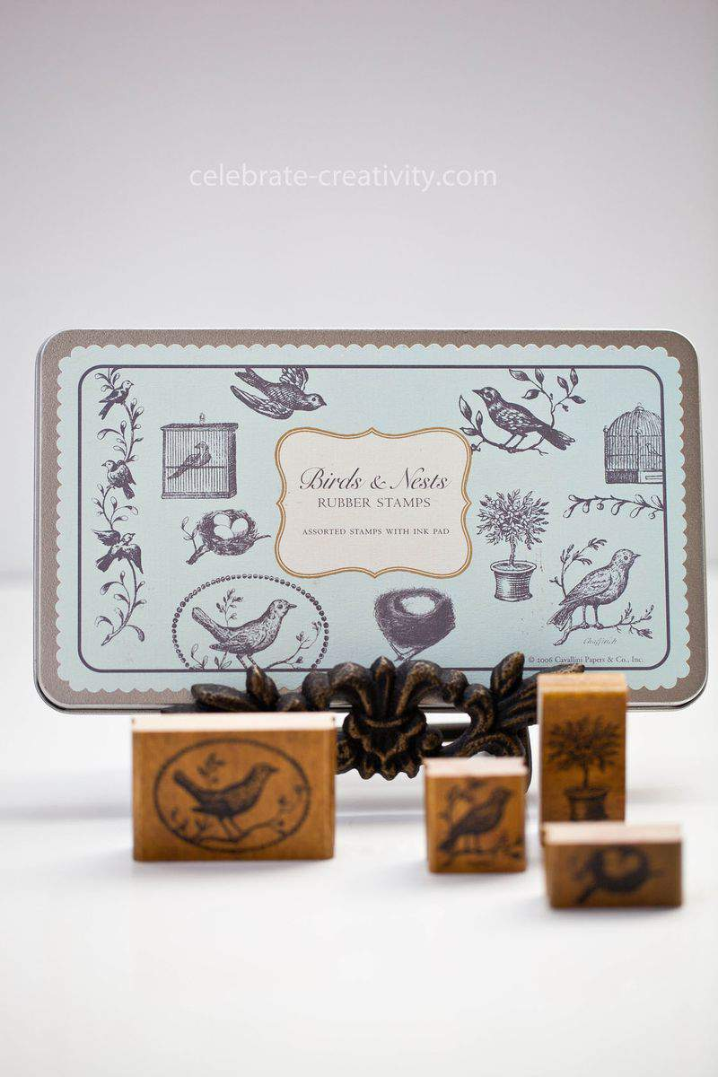 Duck egg blue stamps