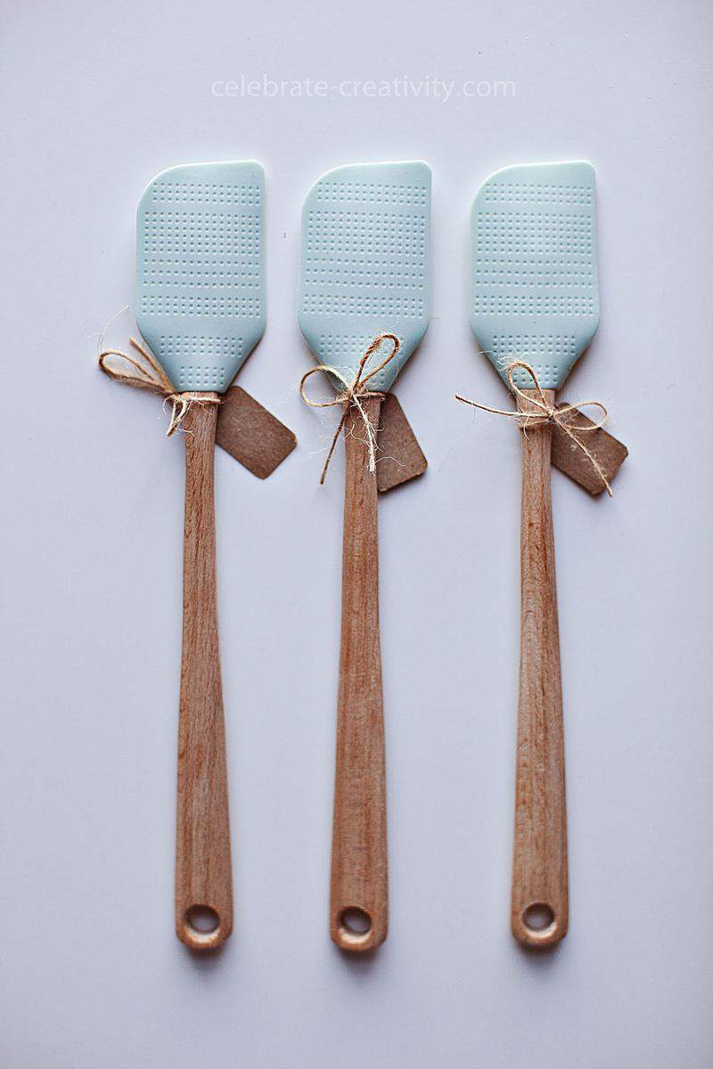 Duck egg blue spatulas