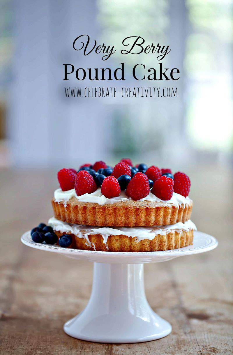 Berry pound cake graphic