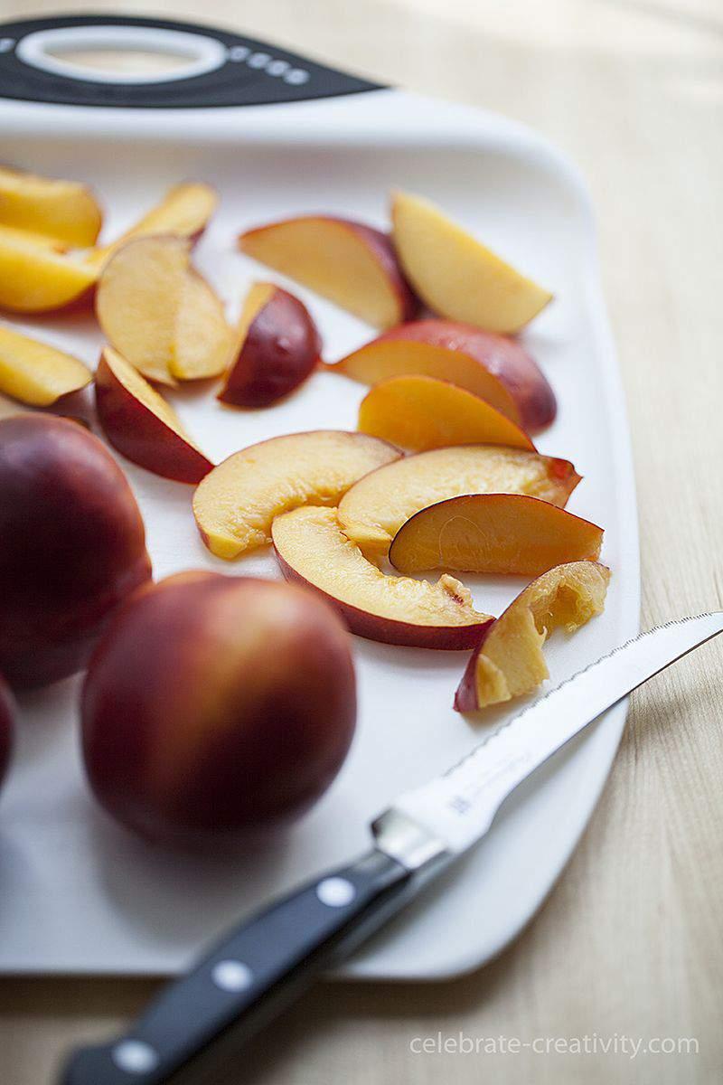 Nectarine tart fruit