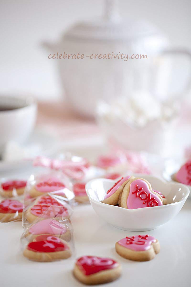 Valentine's cookie bites
