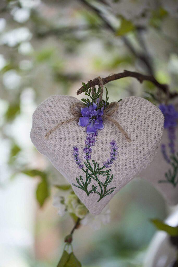 hanging lavender heart sachet