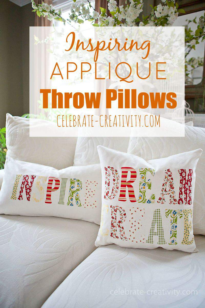 APPLIQUE PILLOW GRAPHIC