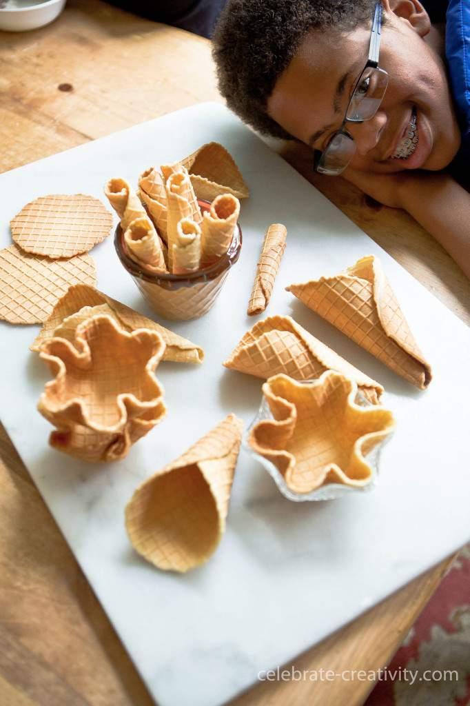 waffle cones display