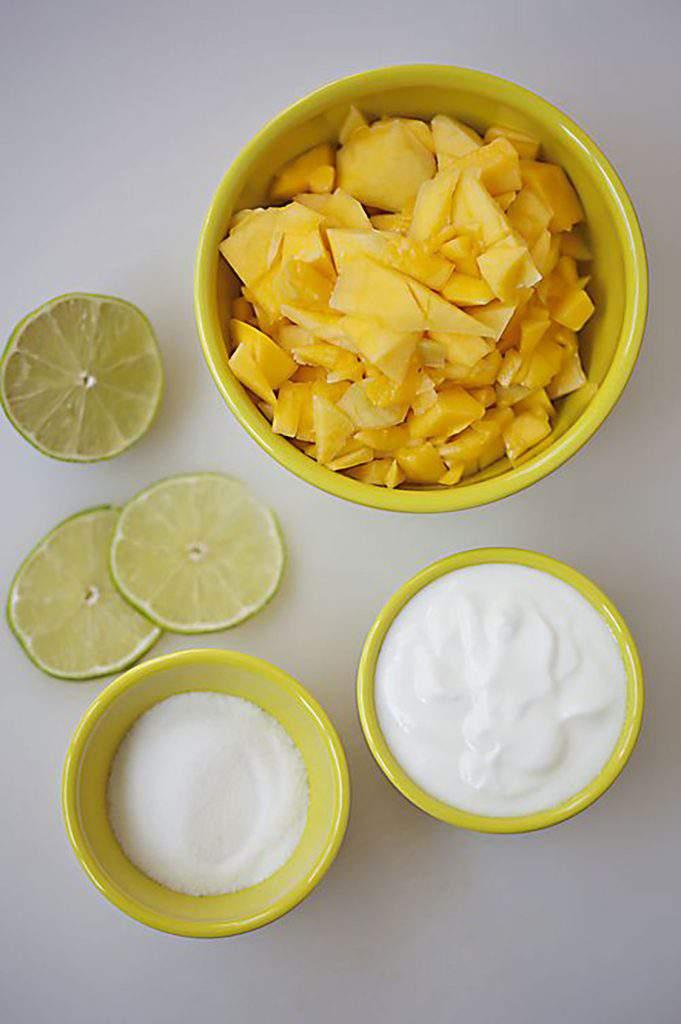 chopped mangos