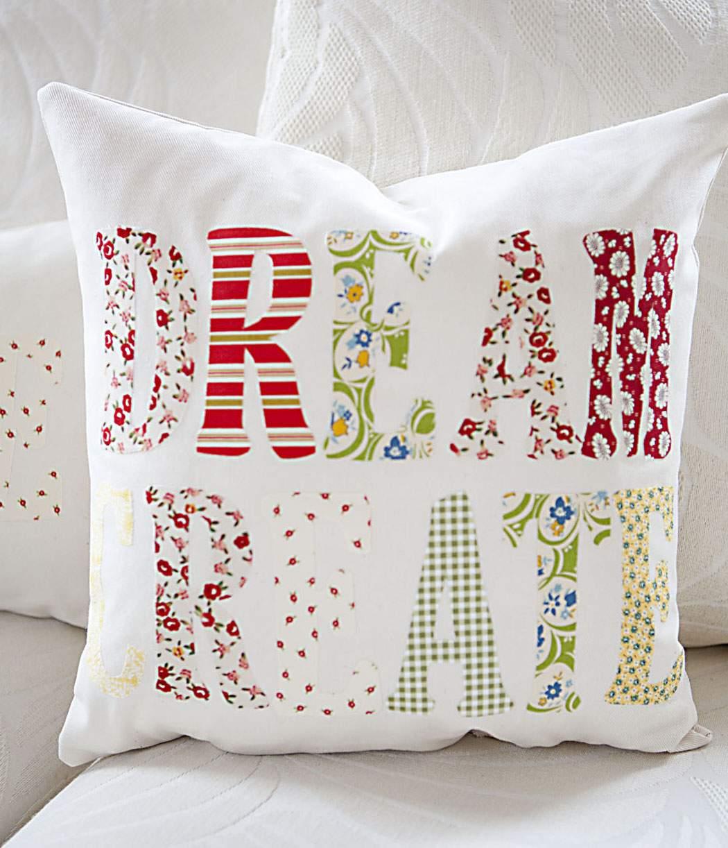 Applique Throw Pillows Celebrate Creativity