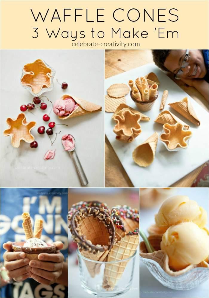 waffle cone assortment