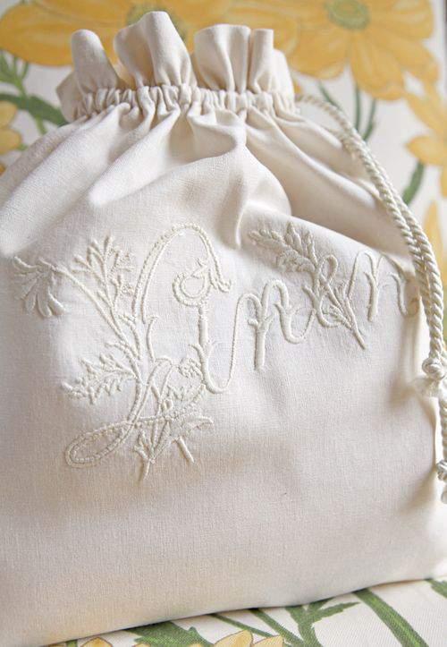 antique monogram napkins
