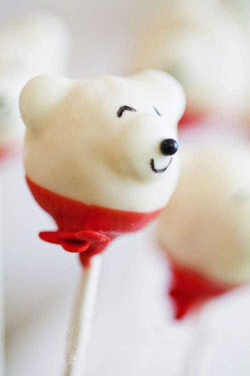 Polar Bear Cake Pops