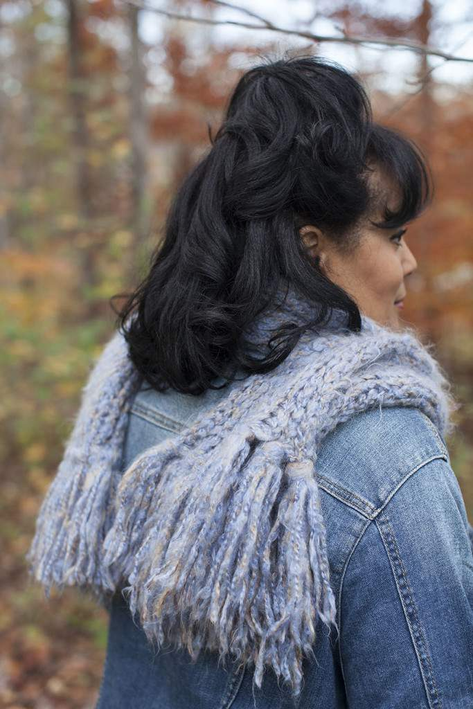 scarf knitting fringe
