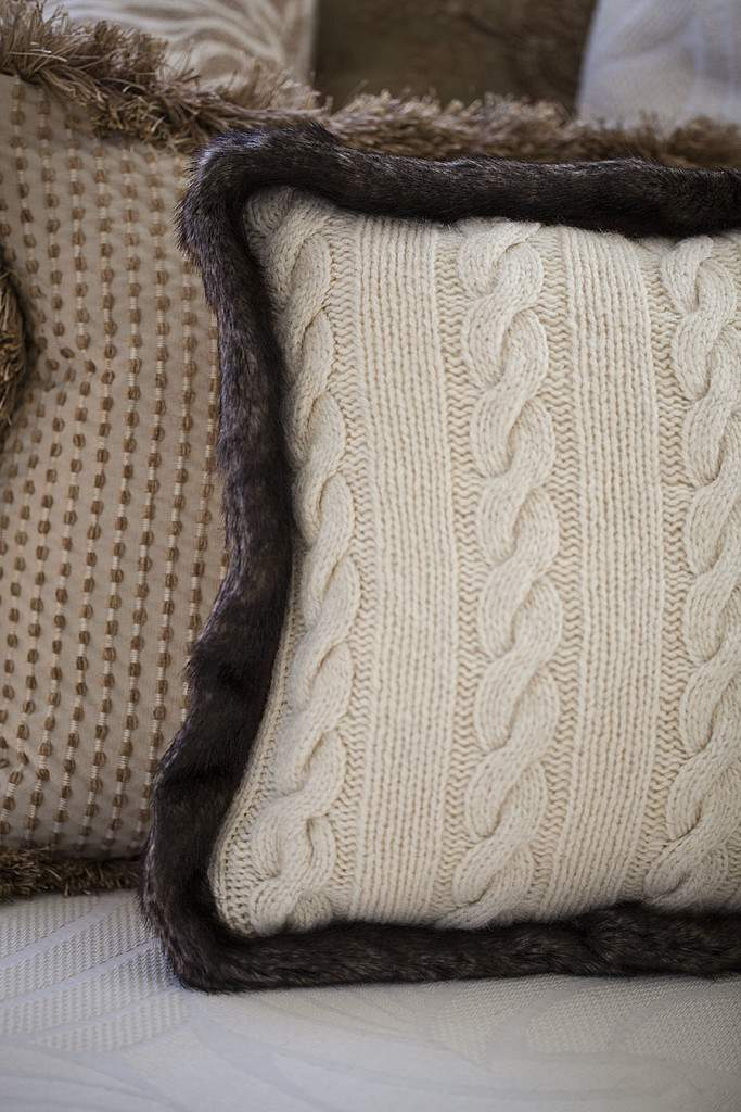 sweater pillow upright