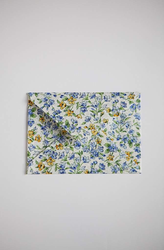 fabric envelope flat