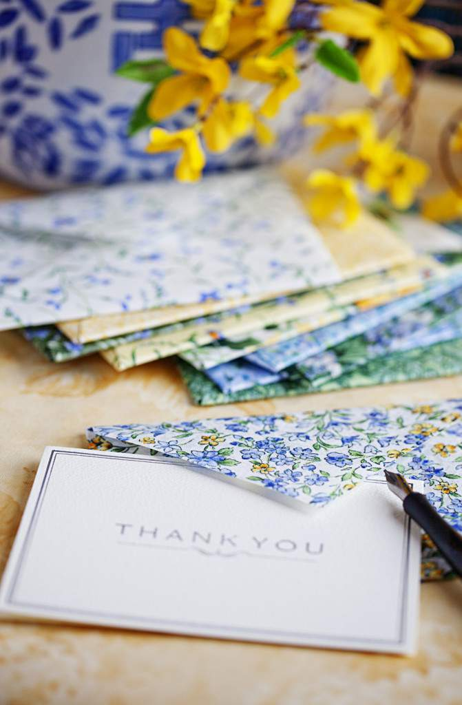 fabric envelope thank you cards