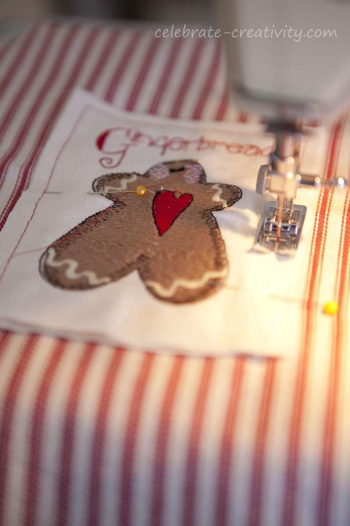 gingerbread man embroidery