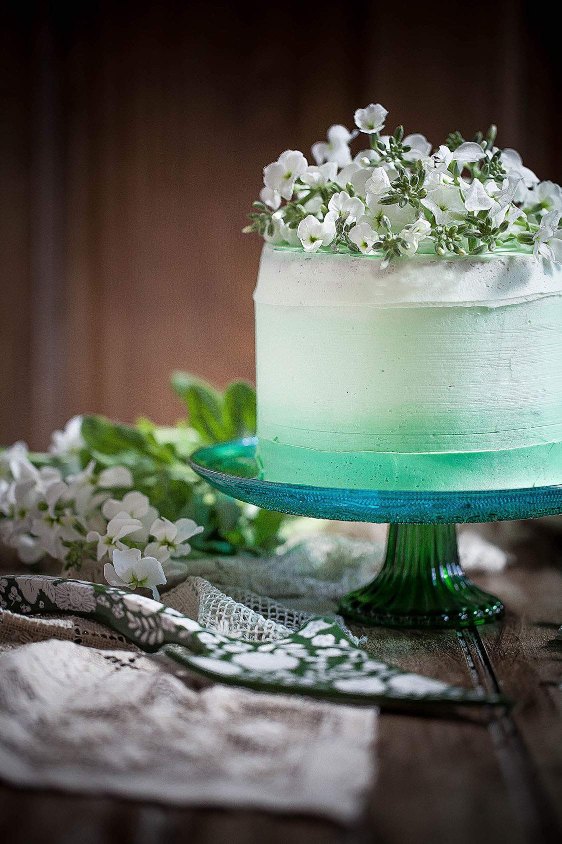 green ombre cake
