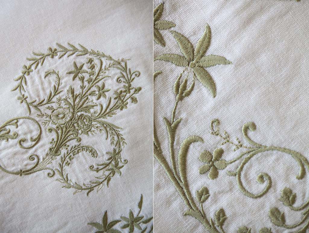Monogrammed embroidery