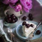 cherry pavlova slice