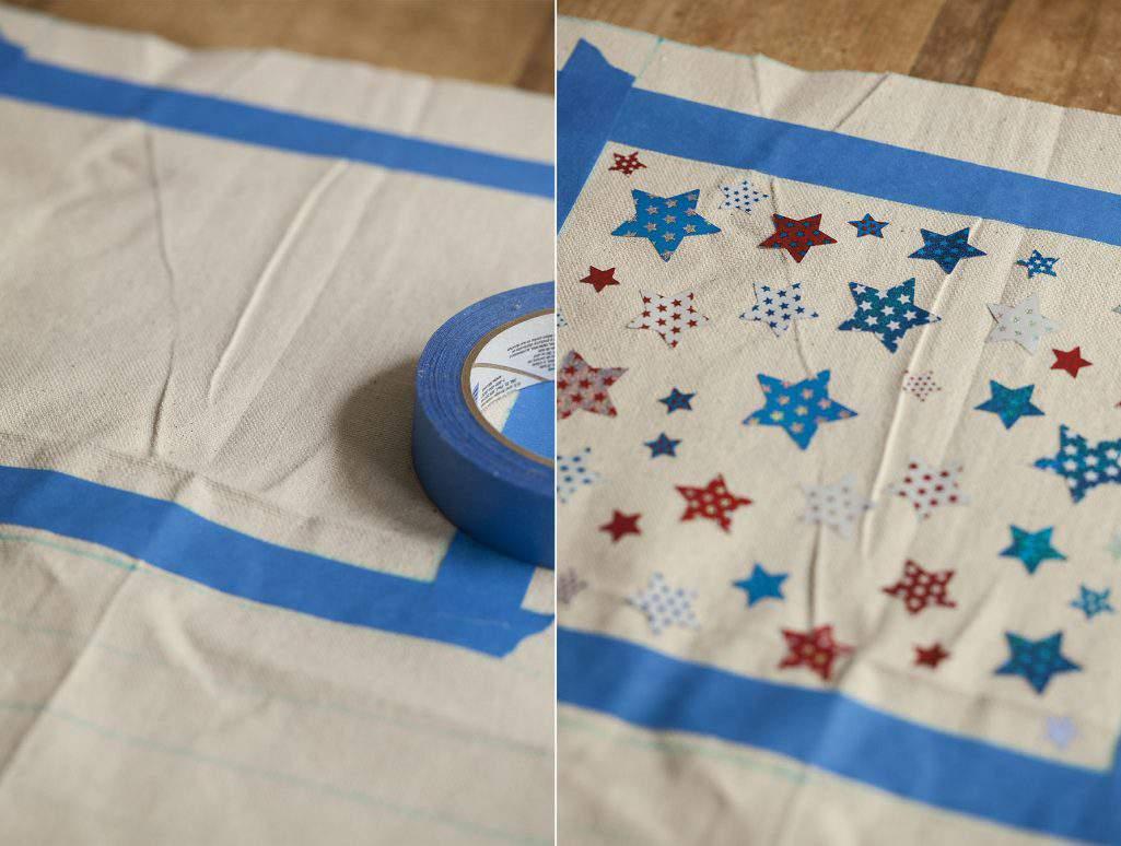 masking tape and stars