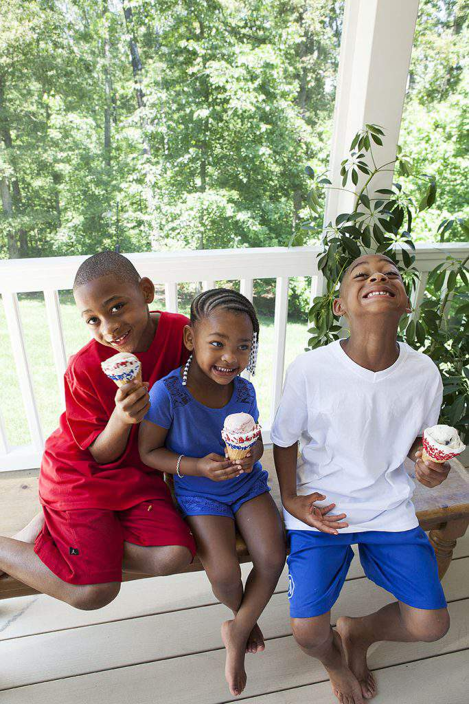 waffle cones and kids