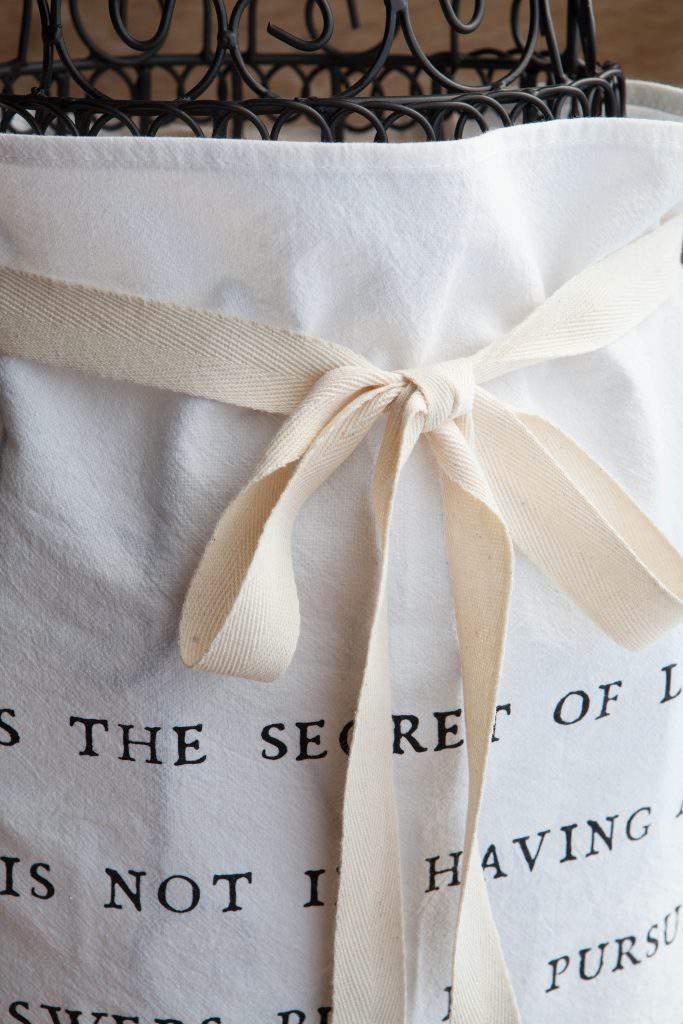 twill ribbon apron tie