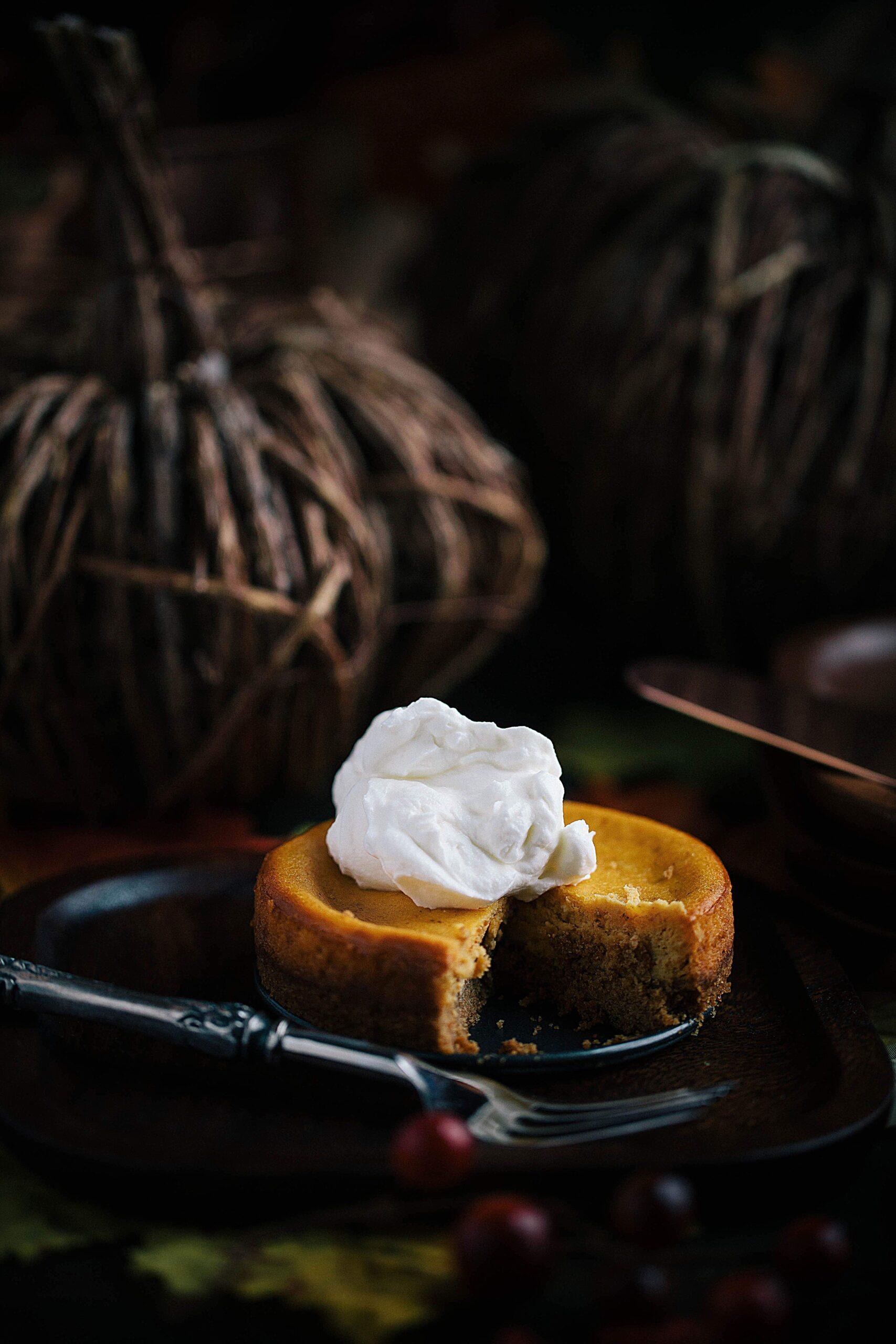 pumpkin cheesecake mini