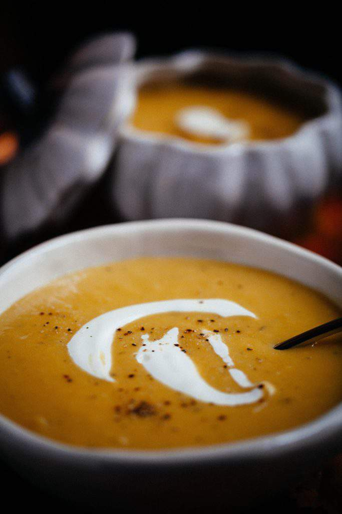 pumpkin soup dish
