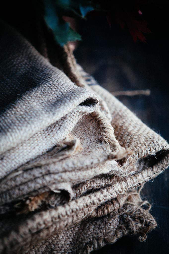 burlap grain sacks