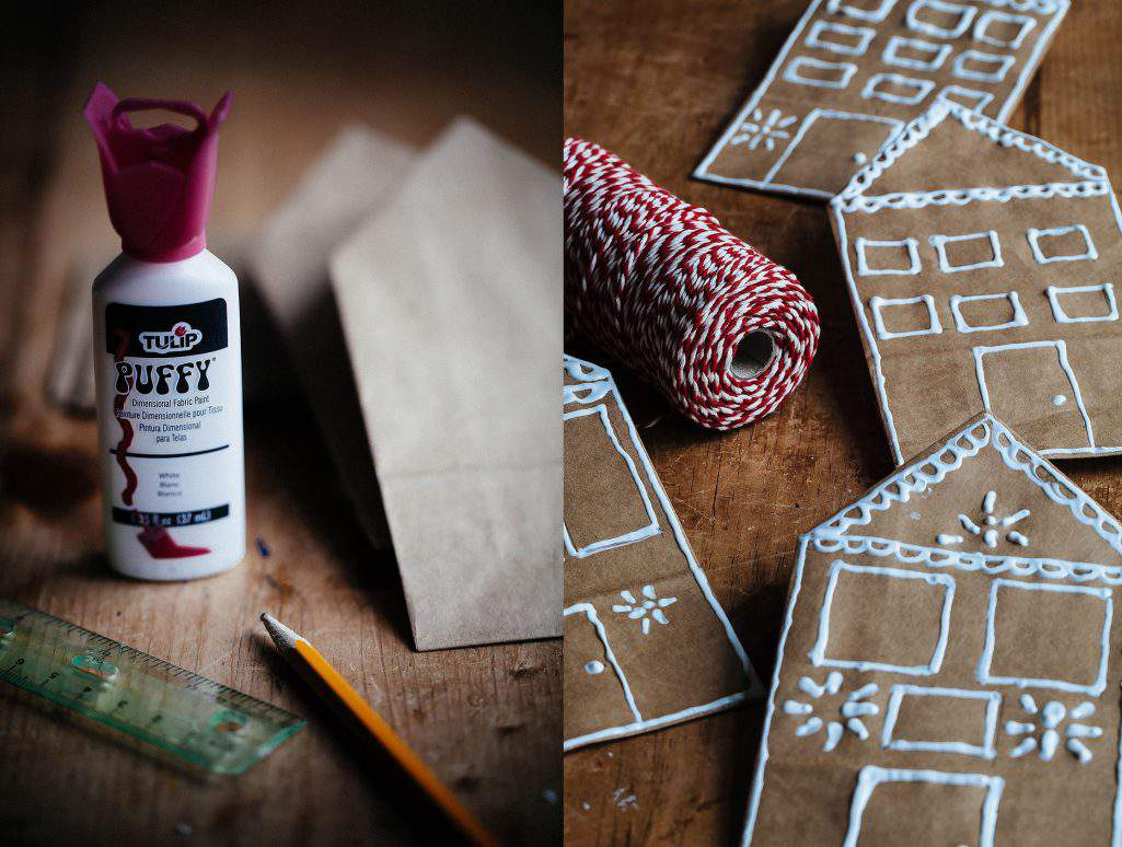 gingerbread puff paint