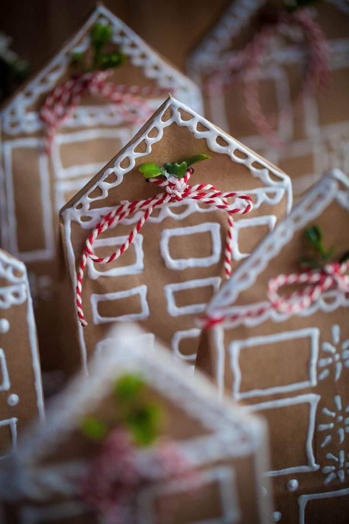 houses gingerbread baggies