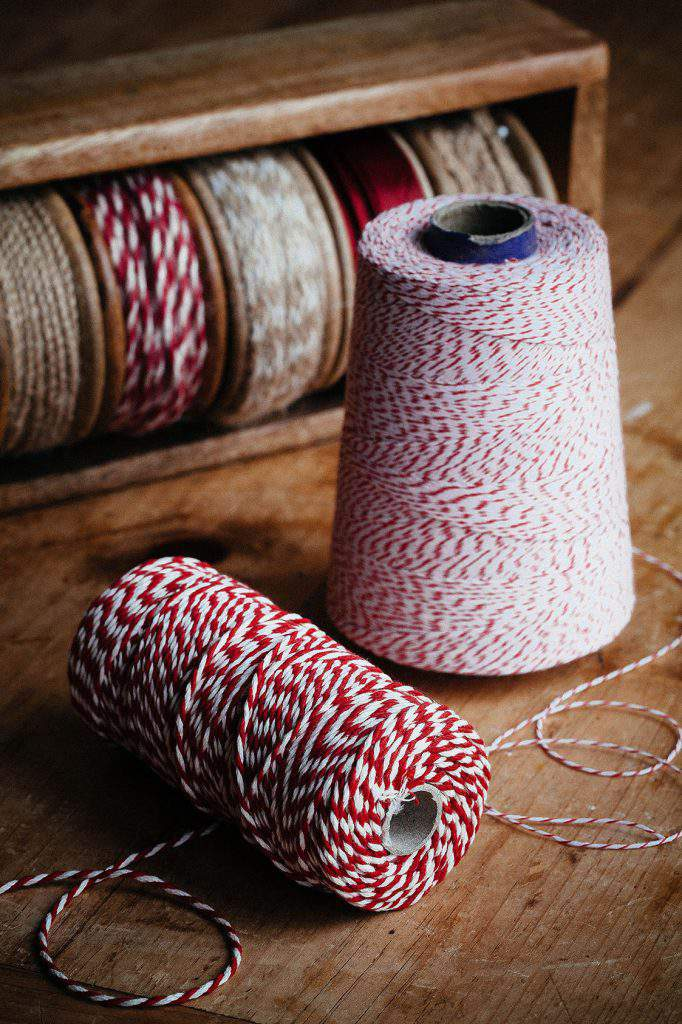 bakers twine and ribbon